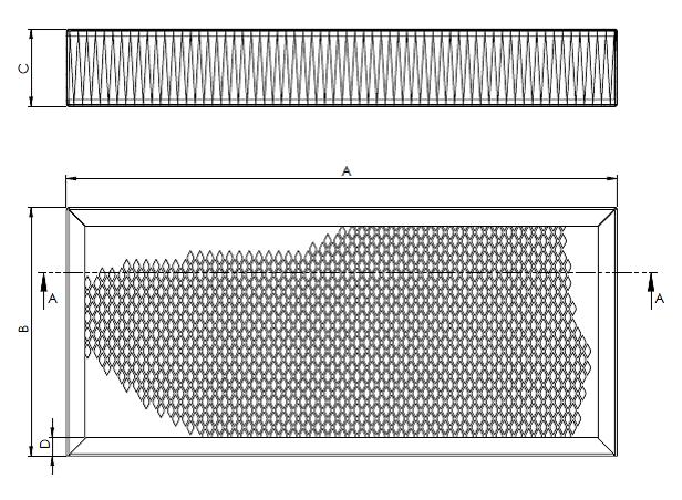 Filtry kasetowe/panelowe
