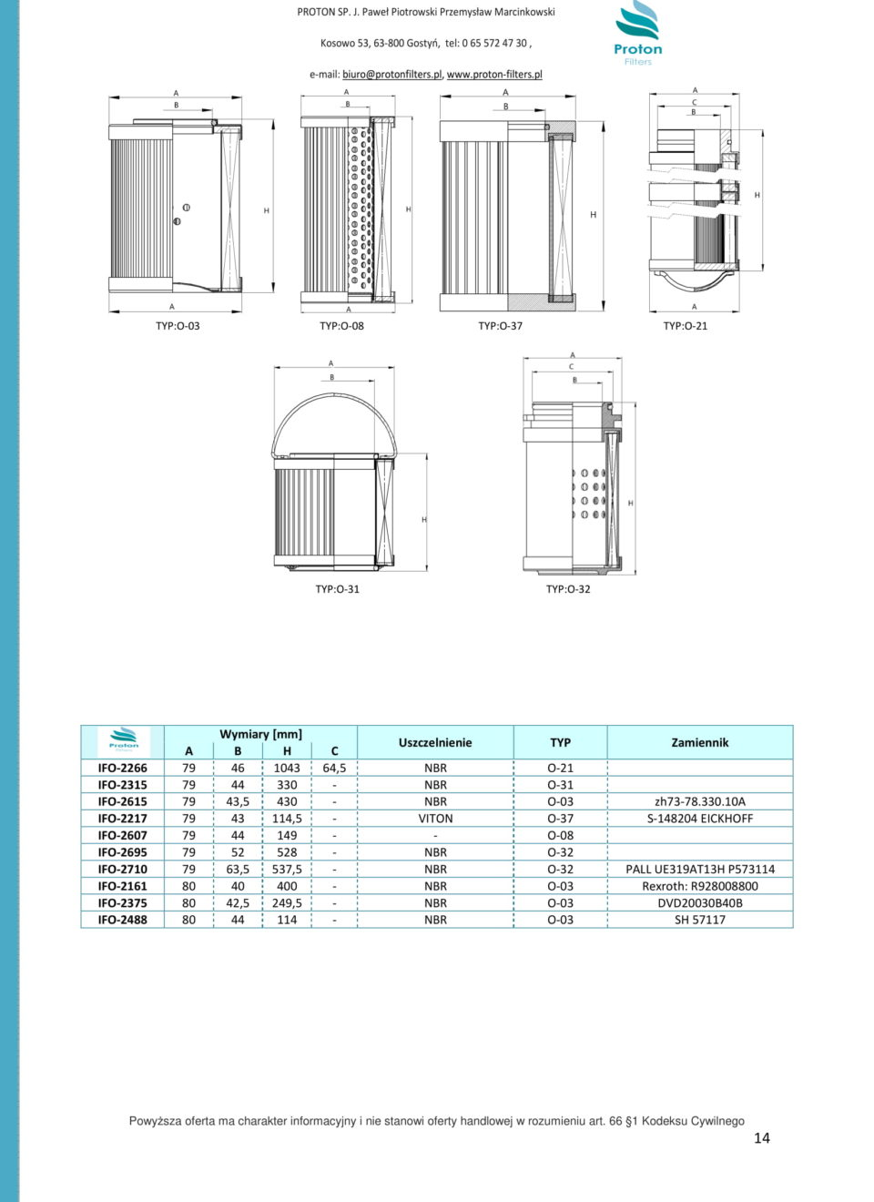 PROTON HYDRAULIC FILTERS-14